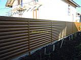 """Блокхаус металевий """"Колода тип 1"""" колір - світле дерево-2-з сторонній, для парканів, фото 3"""