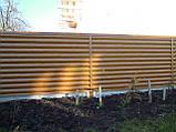 """Блокхаус металевий """"Колода тип 1"""" колір - світле дерево-2-з сторонній, для парканів, фото 4"""