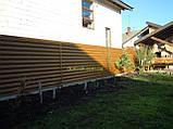 """Блокхаус металевий """"Колода тип 1"""" колір - світле дерево-2-з сторонній, для парканів, фото 5"""