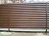 """Блокхаус металевий """"Колода тип 1"""" колір - світле дерево-2-з сторонній, для парканів, фото 7"""