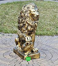 Садовая фигура Лев с правым щитом большой, фото 2