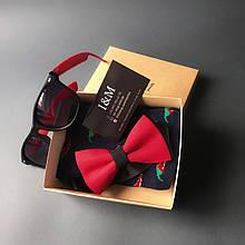 Подарочный набор I&M Craft бабочка, ремень, браслет, платок паше для мужчин (120103)