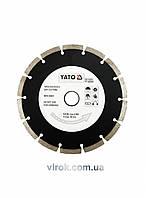 Диск отрезной алмазный YATO SEGMENT 180 х 2.5 х 8 х 22.2 мм