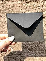 Крафт конверт 110:90 для пластиковых карт черный