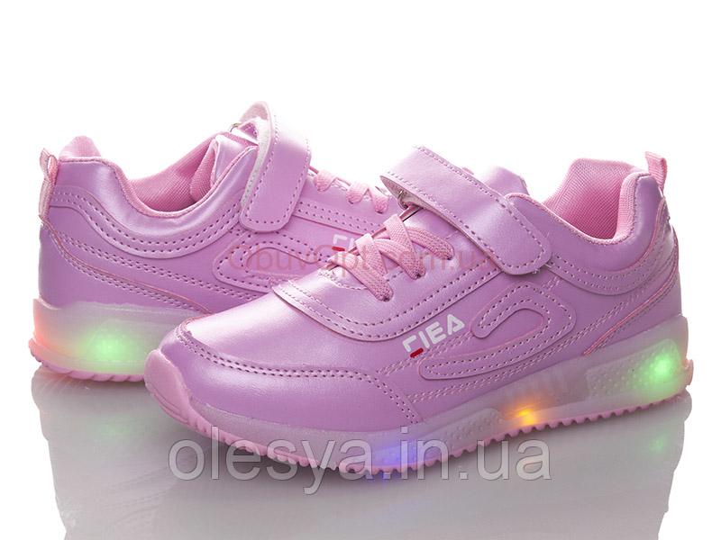 Кеды кроссовки детские на девочку BBT c ЛЕД подсветкой Размер 33