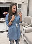 Женский стильный джинсовый кардиган с капюшоном, фото 2