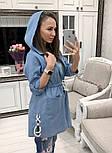 Женский стильный джинсовый кардиган с капюшоном, фото 4