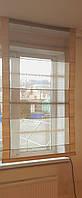 Римская штора  Полоски беж и коричневые, фото 1
