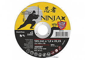 Диск отрезной по металлу и нержавеющей стали NINJA ТМ VIROK Ø=125х22.23 мм t=1 мм