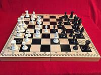 Шахматы 48 см  Украина c деревянной доской и классическими пластиковыми фигурами Стаунтона