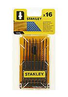 Набор пильных полотен для электролобзика STANLEY 16 шт