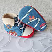 Коттоновые кроссовки пинетки, фото 1
