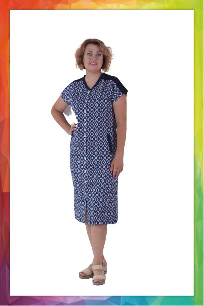 9b54d77b1beb Халат летний женский голубой на пуговицах, цена 420 грн., купить в ...