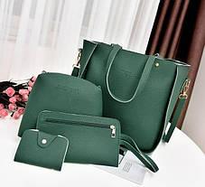 Стильный набор сумок Jingpin 4в1 для модных девушек, фото 3