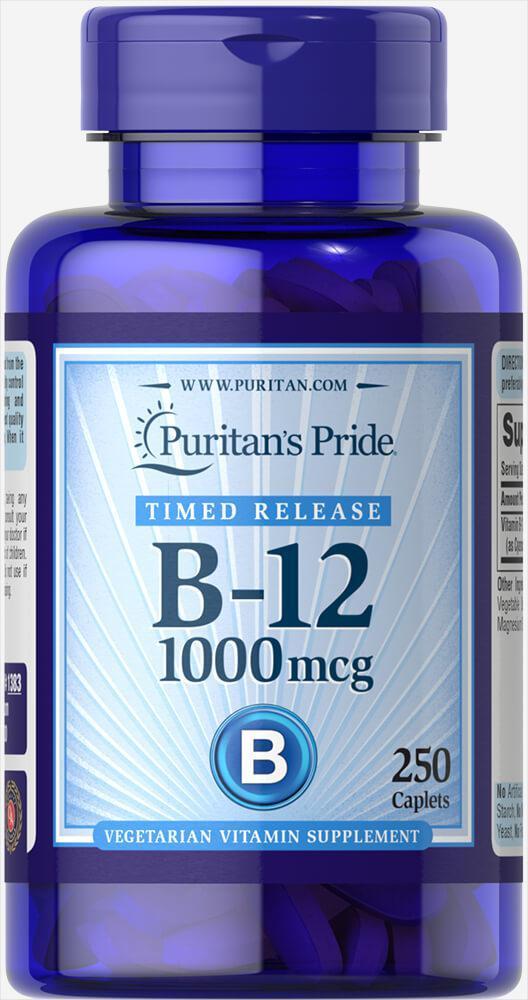 Puritan's Pride Vitamin B-12 1000 mcg, Витамин B12 (250 таб.)