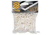 Хрестики дистанційні для плитки багаторазові VOREL тип U: товщина - 4 мм, уп. 100 шт.