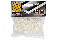 Хрестики дистанційні для плитки і клінкера VOREL тип Т: товщина - 6 мм, уп. 50 шт.