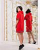 """Спортивное трикотажное платье-туника """"Дженни"""" с капюшоном (2 цвета), фото 4"""