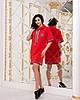 """Спортивное трикотажное платье-туника """"Дженни"""" с капюшоном (2 цвета), фото 3"""