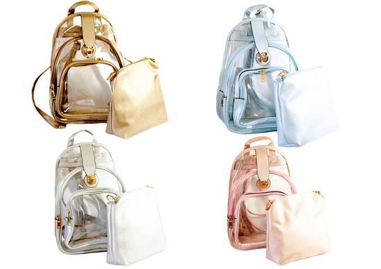 Рюкзак з косметичкою підлітковий для дівчинки Kidis TMB-261, 24 * 33 * 16 см