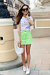 Женские юбка джинсовая с пуговицами (в расцветках), фото 2