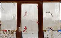 Занавески на створку окна Листочки 4шт, фото 1