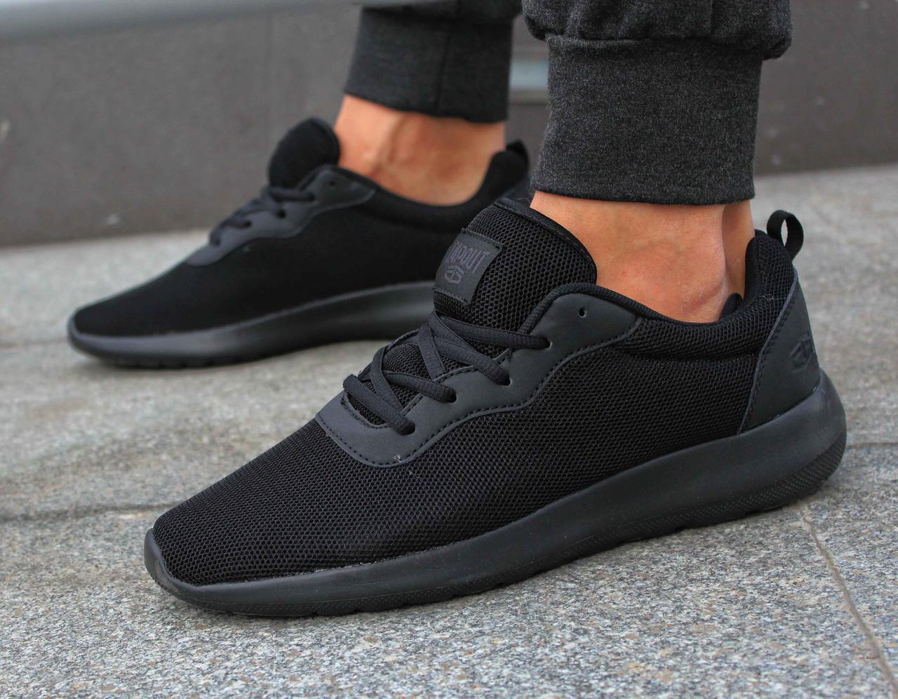 Фирменные мужские черные летние кроссовки Tapout Clio Run