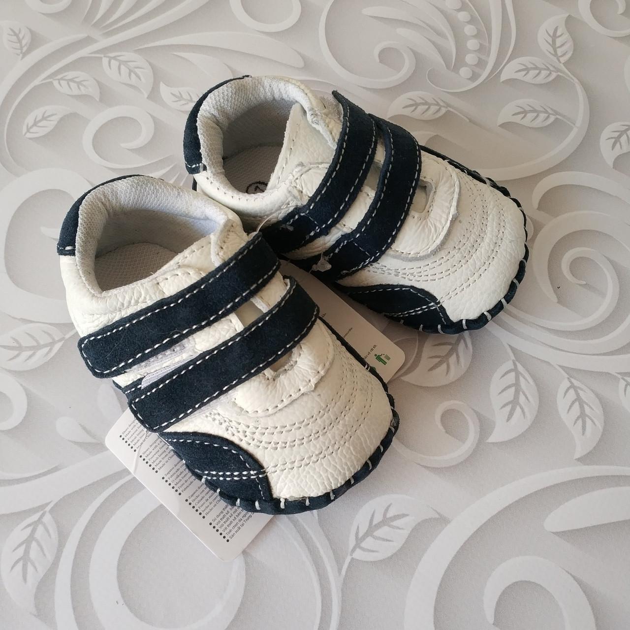Кожаные пинетки кроссовки