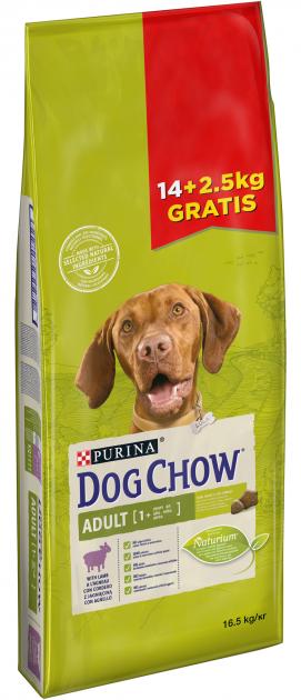 Purina Dog Chow Adult Lamb 14 + 2,5 кг с ягненком корм для собак от 1 до 5 лет