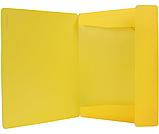 Папка пластиковая А4 на резинках Format, желтая, фото 2