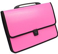 """Портфель на застібці, фактура """"Вишиванка"""", рожевий"""