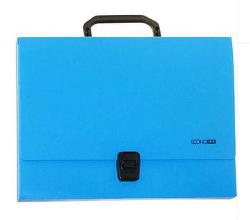 Портфель пластиковый А4 Economix, голубой