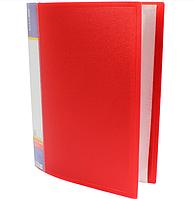 Папка А4 с 60 файлами Economix, красная E30606-03