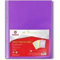 """Файл для документов А4 + Optima, 40 мкм, фактура """"глянец"""", фиолетовый (100 шт / уп) O35116-12"""