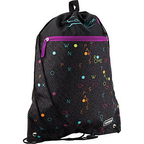 Сумка для обуви с карманом Kite Education 601L-3 Catsline K19-601L-3 ранец  рюкзак школьный hfytw ranec, фото 2