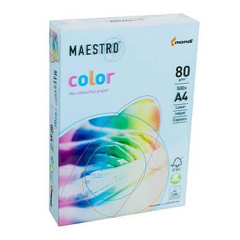Бумага А4 Maestro Color MB30 голубая