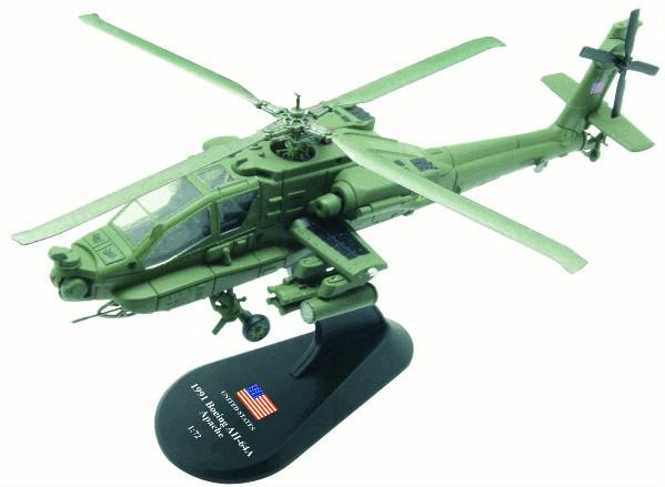 Модель Вертолеты Мира (Amercom) №26. Boeing AH-64A Apache в масштабе 1:72