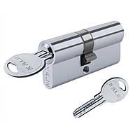 Цилиндр KALE 164 SNC 68 (31х37) ключ/ключ, Никель, с защитой от высверливания