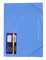 Папка пластиковая Barocco А5 на резинках, голубая BM3902-14