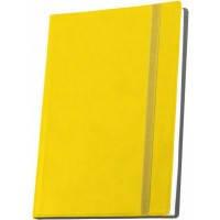 Деловая записная книжка А5 с резинкой , Vivella, цвет обложки - желтый