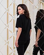 """Комбинированная женская футболка """"Пекин"""" с поясом, фото 2"""
