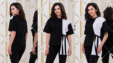 """Комбинированная женская футболка """"Пекин"""" с поясом, фото 3"""