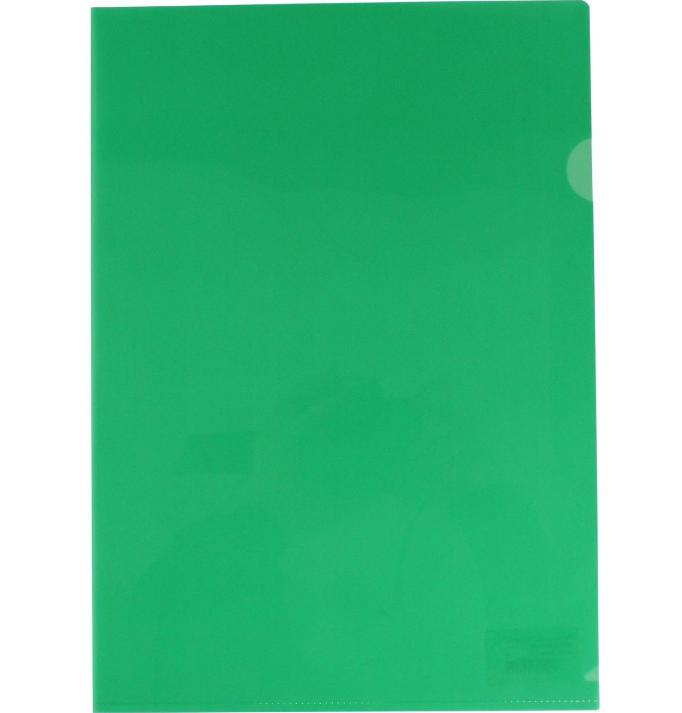 Папка-куточок А4 щільна зелена без логотипу N31153-04
