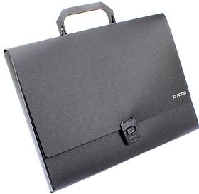 Портфель пластиковий А4 на застібці,1 відділення, чорна N31607-01