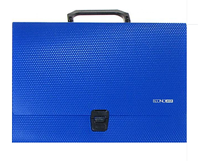 Портфель пластиковий А4 на застібці , 1 відділення, синій N31607-02