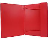 Папка пластикова для документів А4 на гумка, червона N31601-53, фото 2