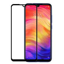 Защитное стекло Full Glue для Xiaomi Redmi Note 7 (чёрный)