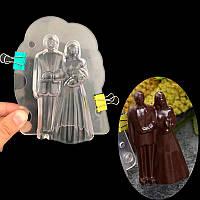 """Формы для шоколада из поликарбоната """"Молодожены"""", форма 3D для конфет"""