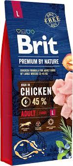 Сухий корм Brit Premium Adult L для собак великих порід з куркою 15КГ