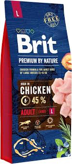 Сухой корм Brit Premium Adult L для собак крупных пород с курицей 15КГ